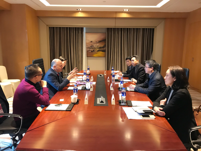 Meeting with the Deputy Secretary General of Zhenjiang Government